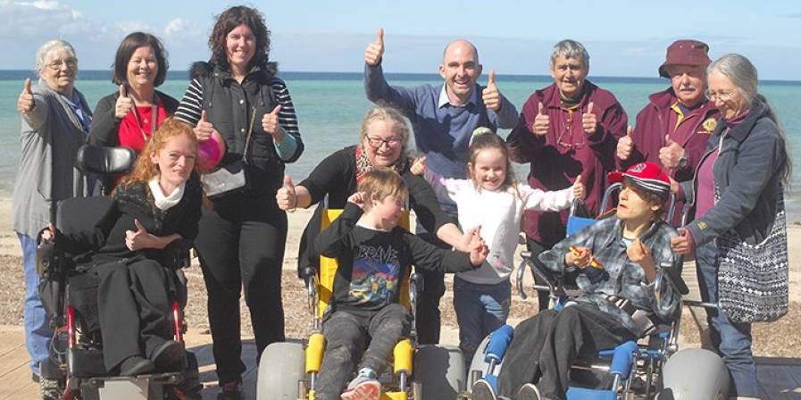 POSITIVE OUTCOME: The purchase of beach wheelchairs to enable those with disabilities to access the Whyalla Foreshore was a big win last year.
